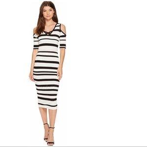 XOXO Striped Pointelle Dress